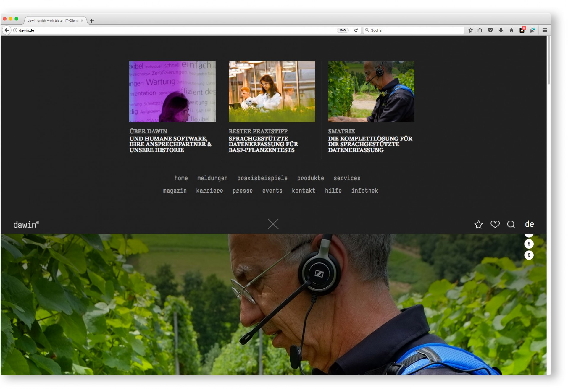 BUREAU KUEPPERS Corporate Website für dawin gmbh