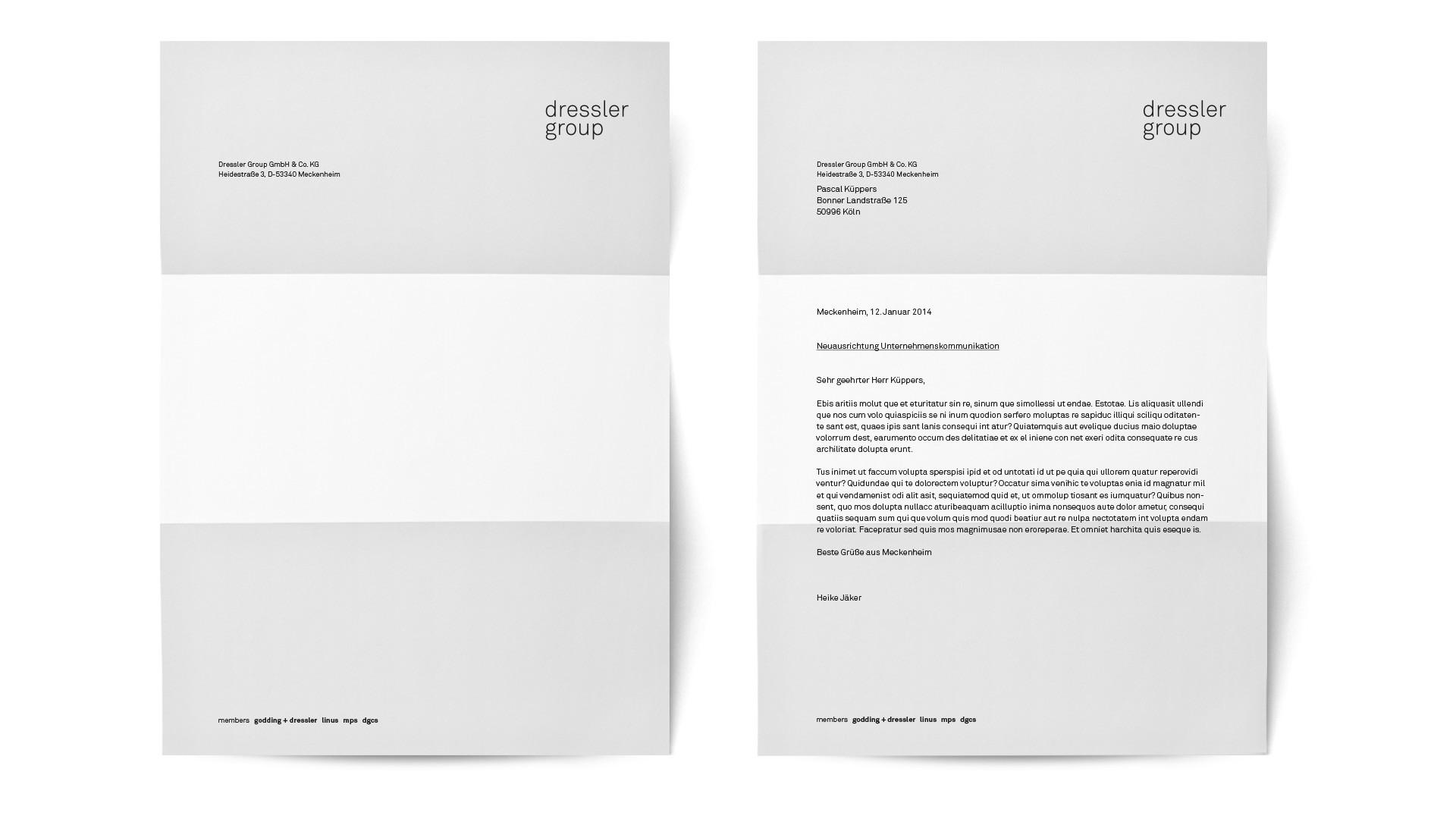 BUREAU KUEPPERS Corporate Identity Entwicklung für Dressler Group