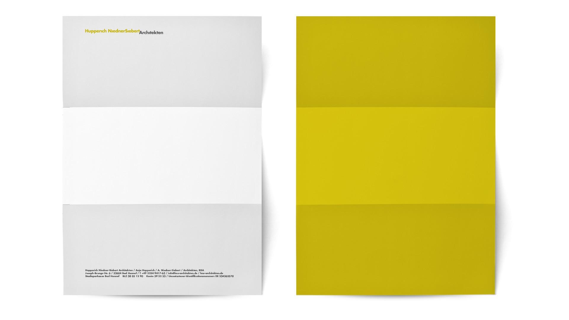 BUREAU KUEPPERS Corporate Design für HupperichNiedner-Siebert Architekten